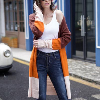2019 Fashion Cardigans Knitted Sweaters Women Autumn Thin Knit Cardigan Sweater Cotton Long Outwear Coat Female Plus Size 2XL