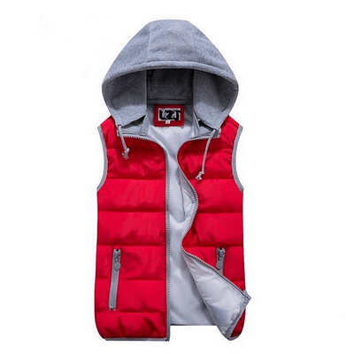 women's cotton wool collar hooded down vest Removable hat Hot high quality Brand New female winter warm Jacket&Outerwear Thicken 1