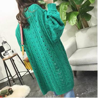 SVOKOR Cardigan Women Long Sleeve Trend Hollow Women's Knitted Sweater Loose Leisure Plus Size Cardigan 2