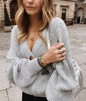 2019 NEW ARRIVAL Autumn Winter Sexy Solid Long Sleeve Button V Neck Knitted Cardigans Sweater Casual HOT SALE