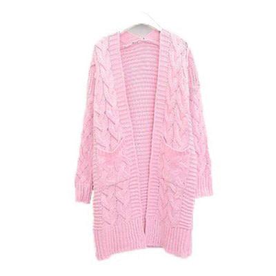 LASPERAL Korean Winter Women's New 2019 Loose Long Sleeve Knit Sweater Cardigan Coat Thick Winter Women Cardigans Sweater 2