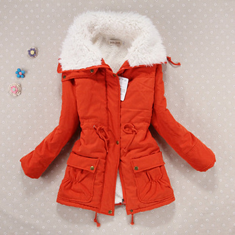 Winter Coat, Women's Medium-Long. Hooded Snow Parka 4