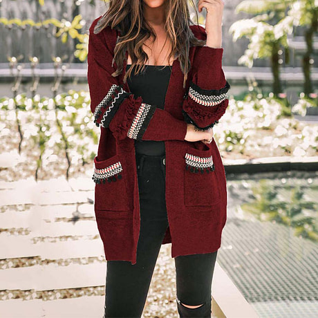 2019 Autumn Long Cardigan Women Sweaters Ladies Long Sweater Women Knitted Sweater Female Long Sleeve Loose Cardigans Coat 4