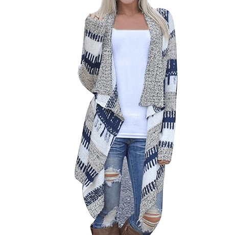 Free Ostrich Cardigan Jumper Casual Winter Sweater Women Striped V Neck Cardigan Slim Sweater 2019 Sueter Mujer Invierno N30
