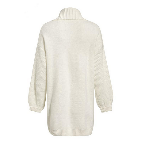 Melegant Pocket Solid White Cardigans Women Winter 2019 Cardigans Ladies Knitted Casual Cardigans Knitwear 2