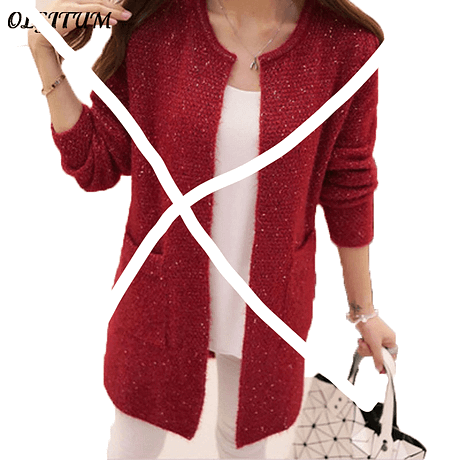 OLGOTUM 2019 New Spring&Autumn Women Casual Long Sleeve Knitted Cardigans Autumn Crochet Ladies Sweaters Fashion Women Cardigan 3