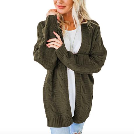 Laamei 2019 Open Front Cardigan Sweaters Winter Women Sweater Knitted Long Sleeve Knitwear Girls Casual Outerwear Femme Top 4