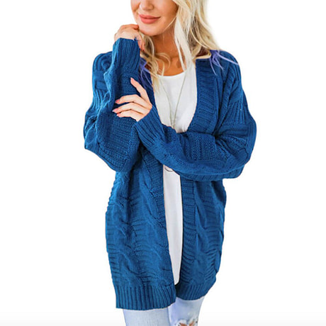 Laamei 2019 Open Front Cardigan Sweaters Winter Women Sweater Knitted Long Sleeve Knitwear Girls Casual Outerwear Femme Top 5