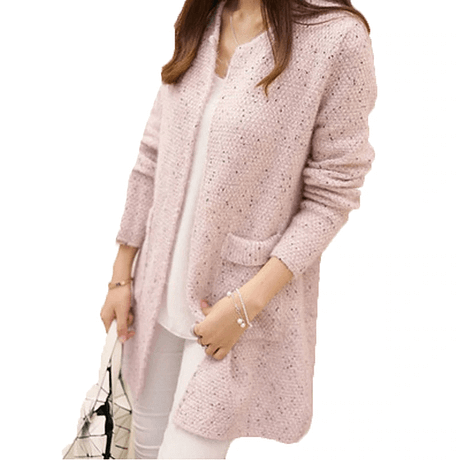 OLGOTUM 2019 New Spring&Autumn Women Casual Long Sleeve Knitted Cardigans Autumn Crochet Ladies Sweaters Fashion Women Cardigan 4