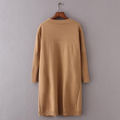 yinlinhe Khaki Long Cardigan Women Cashmere Solid Knit Sweater Women Long Sleeve Winter 2019 Pockets female Cardigan Kimono 737 2