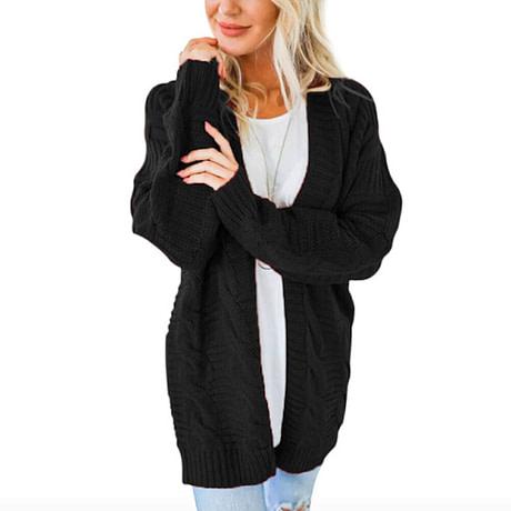 Laamei 2019 Open Front Cardigan Sweaters Winter Women Sweater Knitted Long Sleeve Knitwear Girls Casual Outerwear Femme Top 3