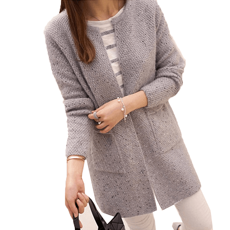 OLGOTUM 2019 New Spring&Autumn Women Casual Long Sleeve Knitted Cardigans Autumn Crochet Ladies Sweaters Fashion Women Cardigan