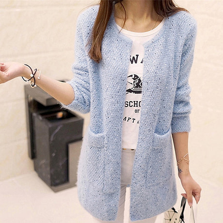 OLGOTUM 2019 New Spring&Autumn Women Casual Long Sleeve Knitted Cardigans Autumn Crochet Ladies Sweaters Fashion Women Cardigan 5