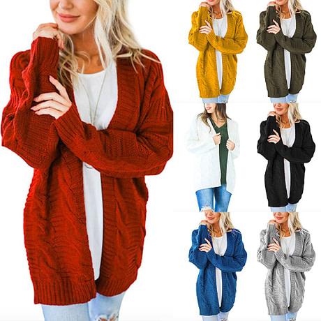 Laamei 2019 Open Front Cardigan Sweaters Winter Women Sweater Knitted Long Sleeve Knitwear Girls Casual Outerwear Femme Top 2