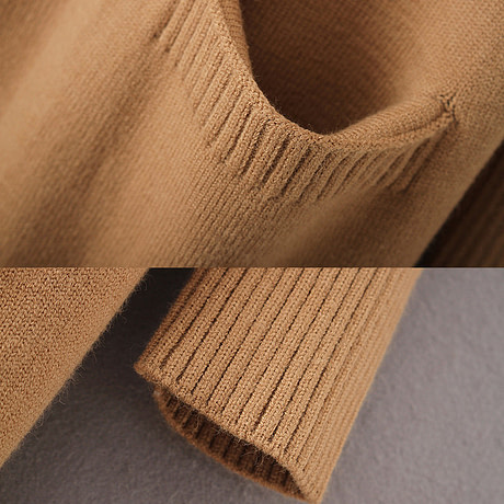 yinlinhe Khaki Long Cardigan Women Cashmere Solid Knit Sweater Women Long Sleeve Winter 2019 Pockets female Cardigan Kimono 737 3