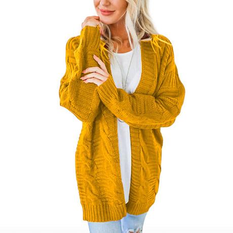 Laamei 2019 Open Front Cardigan Sweaters Winter Women Sweater Knitted Long Sleeve Knitwear Girls Casual Outerwear Femme Top 1