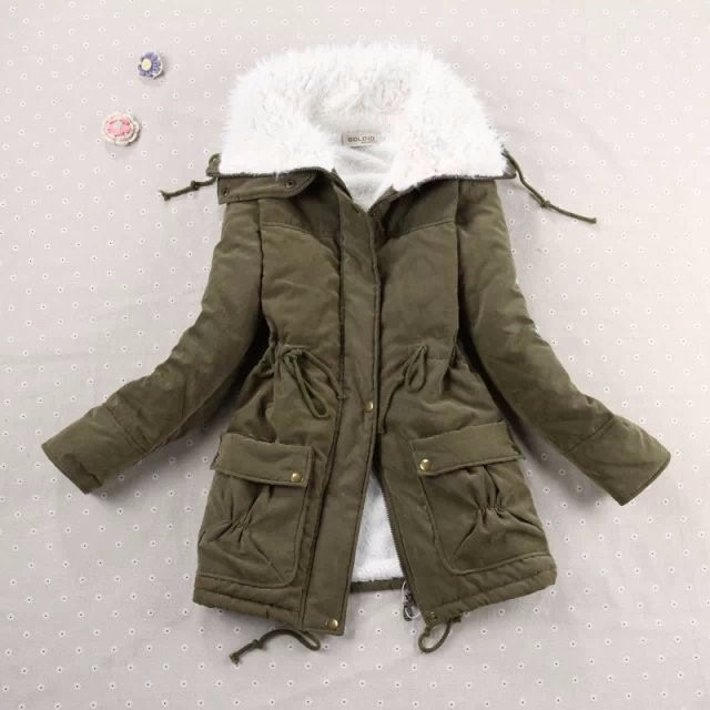 Winter Coat, Women's Medium-Long. Hooded Snow Parka 21