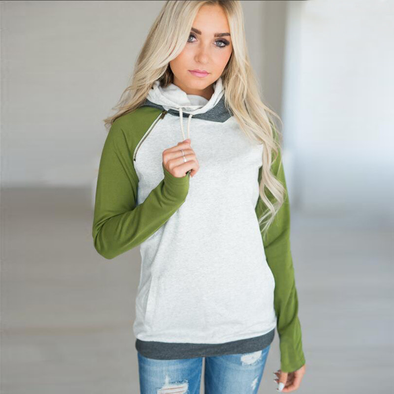 Women's Patchwork Striped Pullover Long Sleeve Hoodie, Tops With Pockets, Hooded Sweatshirt 71