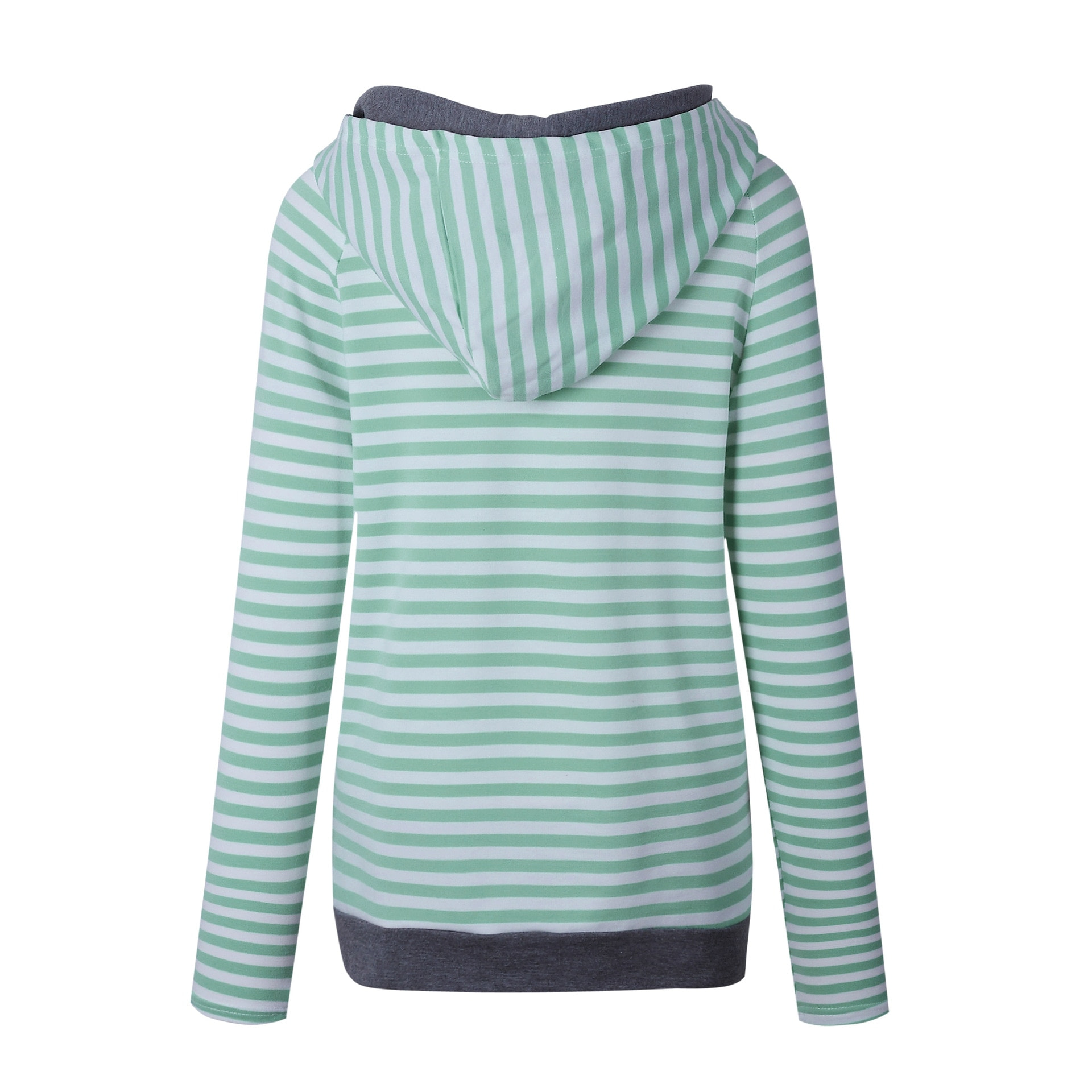 Women's Patchwork Striped Pullover Long Sleeve Hoodie, Tops With Pockets, Hooded Sweatshirt 10
